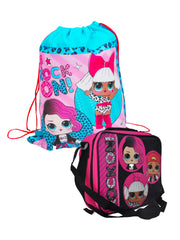 Girls LOL Surprise! Rock On! Insulated Lunch Bag & Sling Bag 2-Piece Set
