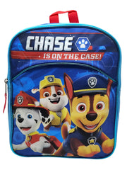 "Paw Patrol 11"" Mini Backpack Chase Rubble & 2-Pack Snack Container BPA-FREE Set"