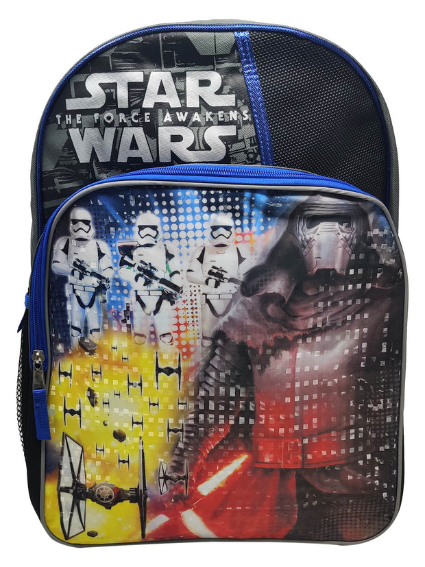 "Star Wars Kylo Ren 16"" Backpack Stormtrooper with Rain Helmet Hood"
