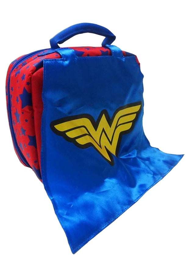 Wonder Woman Insulated Lunch Bag Detachable Cape Red Blue