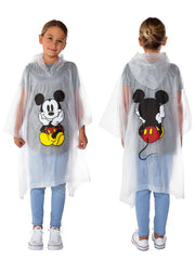 Girls Mickey Mouse Rain Poncho - Youth
