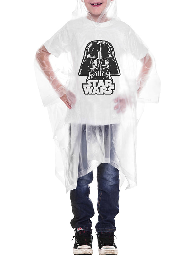 Youth Boys Girls Kids Star Wars Darth Vader Rain Poncho