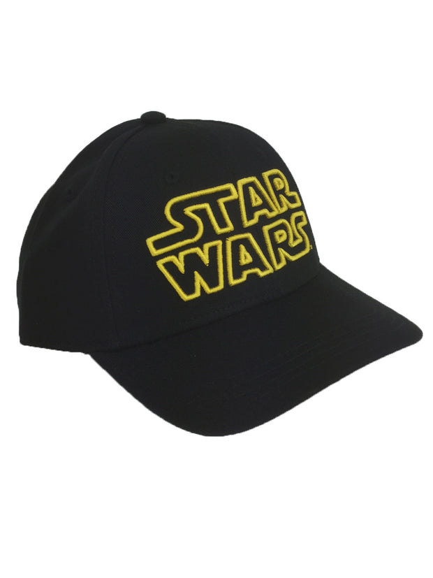 Boys Star Wars Baseball Hat Black Embroidered Logo Luke Skywalker