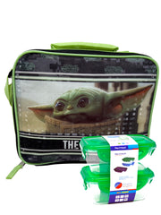 Disney Star Wars Insulated Lunch Bag Baby Yoda Child w/ 2Pc Snack Container Set
