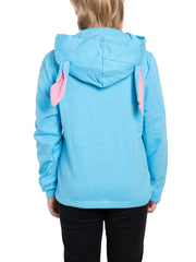 Disney Kids Girls Stitch Sweater Hoodie 3D Ears Face Pullover