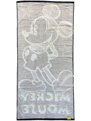 Mickey Mouse Neon Beach Towel Pool 58x28 Black Green Blue