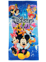 Kids Disney Mickey Mouse Beach Pool Towel 58x28 w/ Inflatable Swim Ring