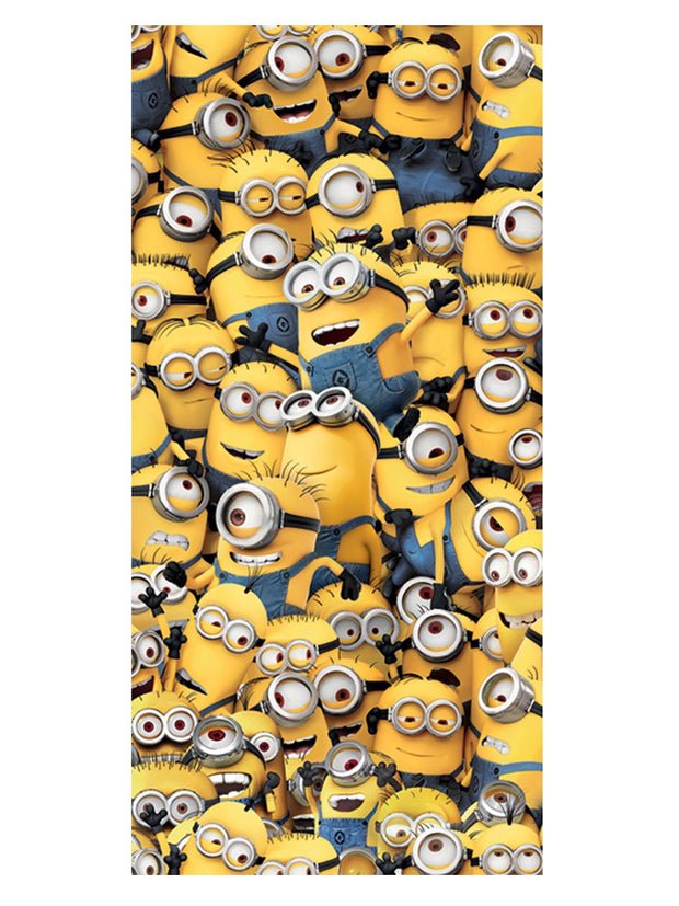 "Despicable Me Kids Minions All-Over Beach Towel 58"" x 28"""