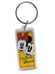 Disney Classic Mickey & Minnie Mouse Key Chain True Original Face 2-Pack Set
