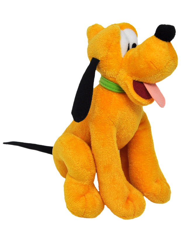 "Pluto Disney Dog 9"" Plush Toy w/ 15"" Mickey & Friends Drawstring Tote Bag Set"