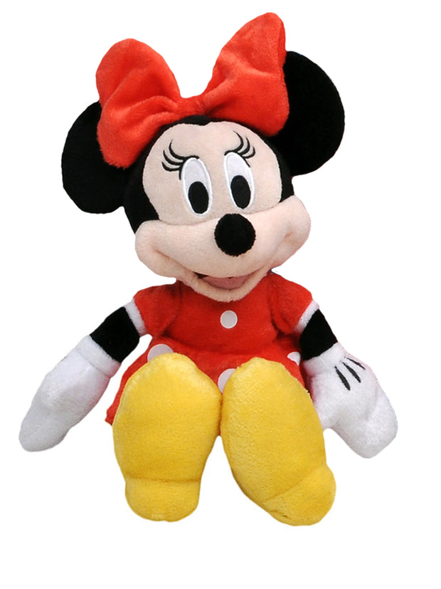 "Disney 11"" Minnie Mouse Plush Doll Toy Red w/ 15"" Drawstring Sling Bag"
