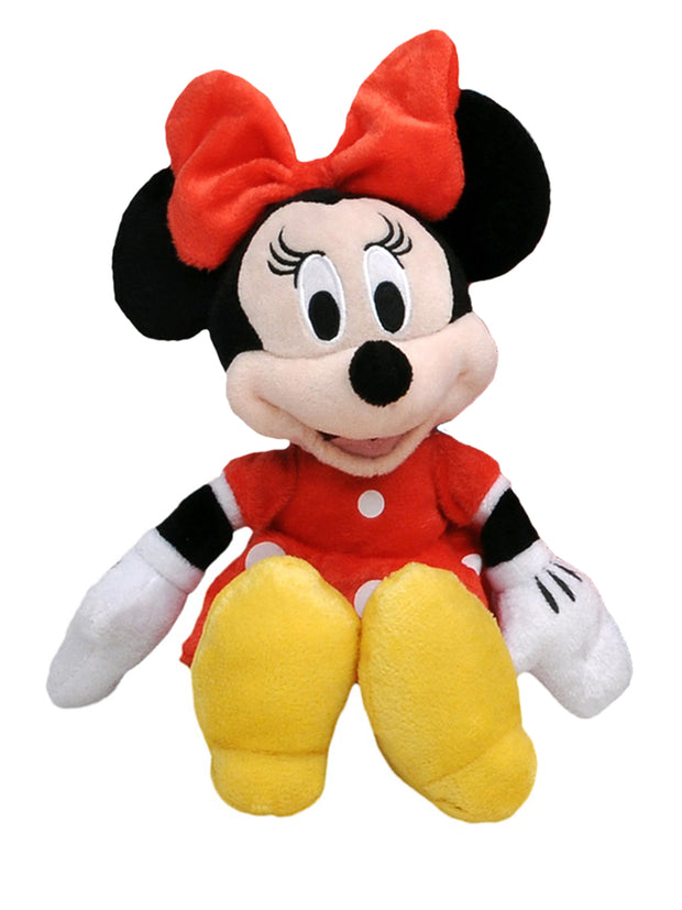 "Mickey Mouse & Minnie Mouse 11"" Red Plush Dolls Stuffed 2-Pack"