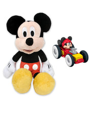 "Mickey Mouse 11"" Stuffed Toy Plush Doll & Die-Cast Racing Car 2-Piece"