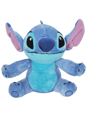 "Disney Stitch 11"" Plush Toy Doll & 15"" Drawstring Tote Cinch Sling Bag Navy Set"
