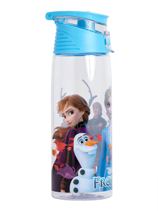 Disney Frozen II Anna Elsa Olaf Clear Flip Top Water Bottle BPA-FREE 25oz