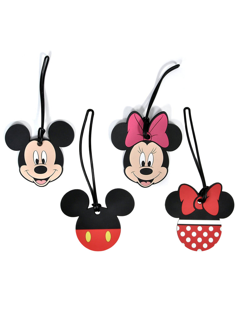 Disney Mickey & Minnie Mouse Luggage Suitcase Tags 4PACK
