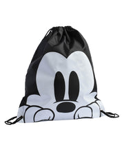 Mickey Mouse Peek-a-Boo Cinch Sling Bag Tote Black White 15.5""