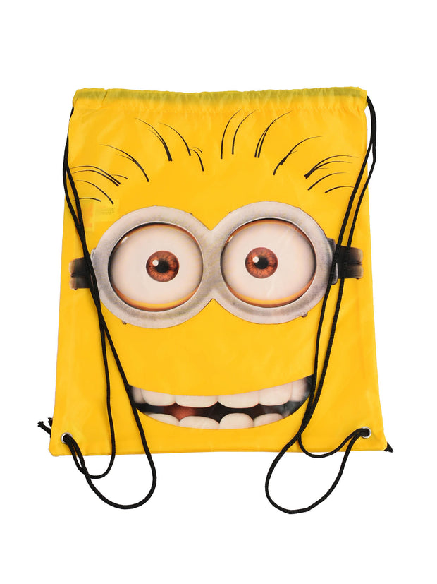 Despicable Me Minion Yellow Sling Bag Tote Cinch 15.5""