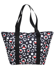 Disney Mickey Mouse Tote Bag Minnie Icon Zippered Black Travel Handbag