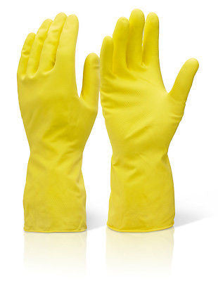 MAPA HOUSEHOLD RUBBER YELLOW GLOVES SMALL - PACK OF 10