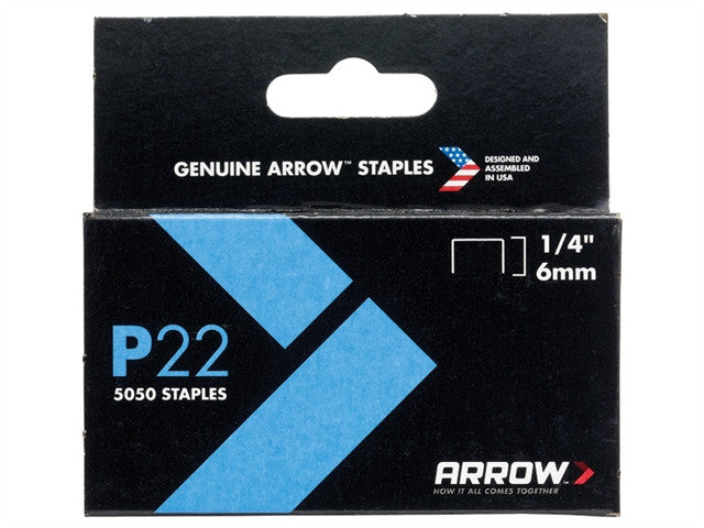 P22 Staples 6mm (1/4in) Box 5050