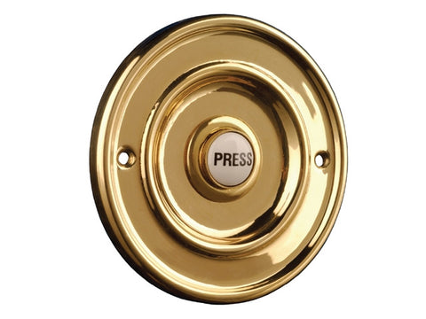 Byron 2207/P1 Round Wired Bell Push Flush Fit