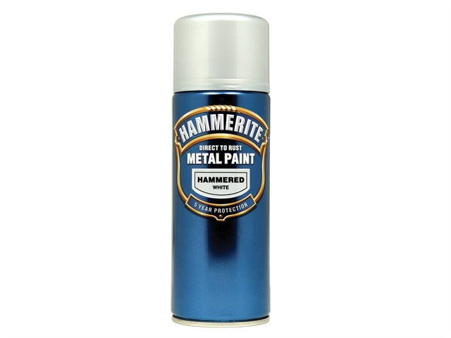 Hammerite Direct to Rust Hammered Finish Aerosol White 400ml