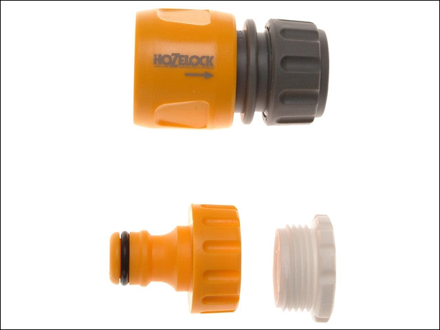 Hozelock 2175 Threaded Tap & Hose End Connector (Twin Pack) 1/2 - 3/4in BSP