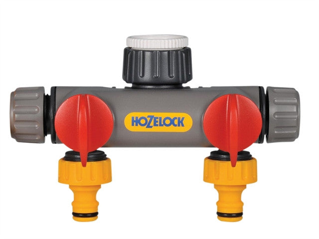Hozelock Two Way Tap Connector 1/2 - 1in BSP