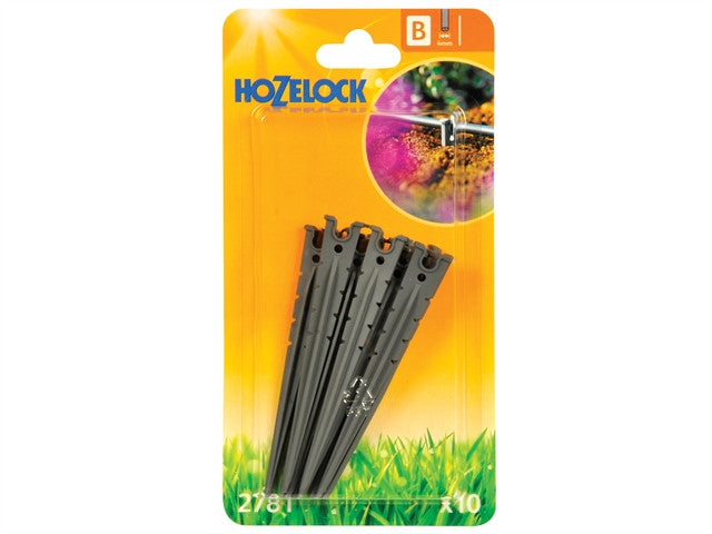 Hozelock Micro Tube Stakes 4mm (10 Pack)