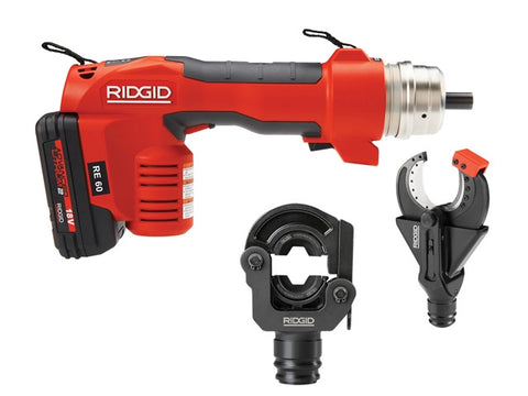 RIDGID RE 60 Electrical Tool Kit with 2 Heads 43628