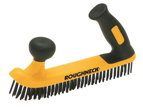 Roughneck Two Handed Wire Brush Soft-Grip