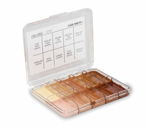 Flesh Tone Alcohol Detailing Palette Body Impression   MINI