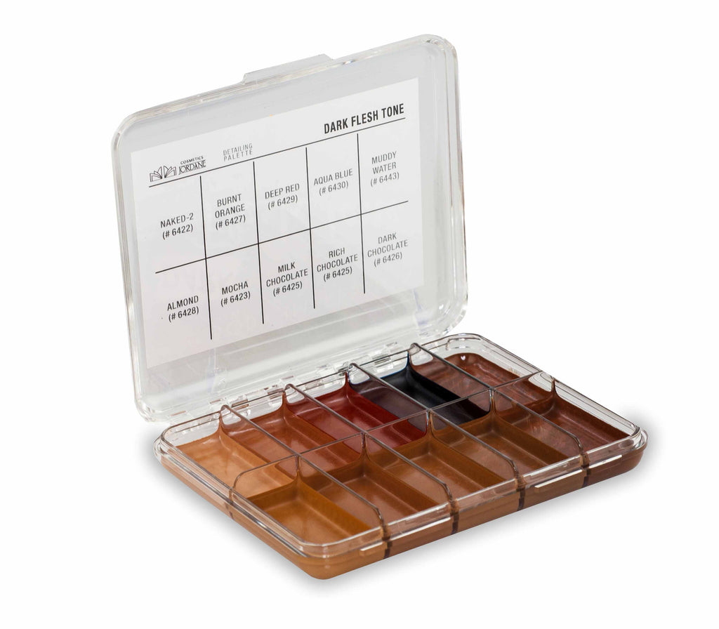 Dark Flesh Tone Alcohol detailing Palette Body Impression MINI