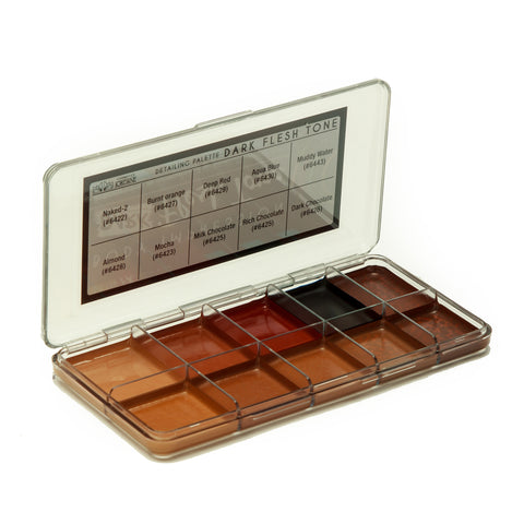 Dark Flesh Tone Alcohol Detailing Palette Body Impression