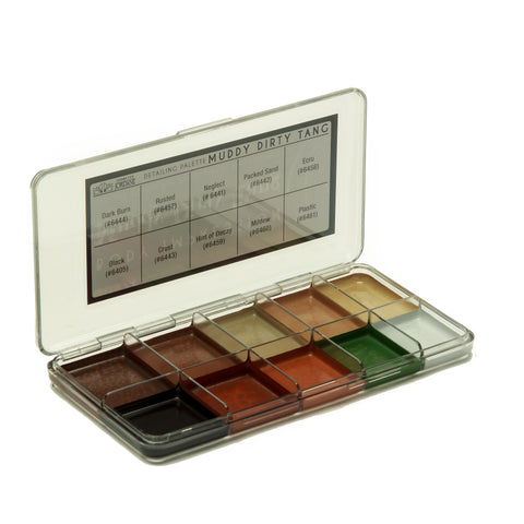 Muddy Dirty Tang Alcohol Detailing Palette Body Impression