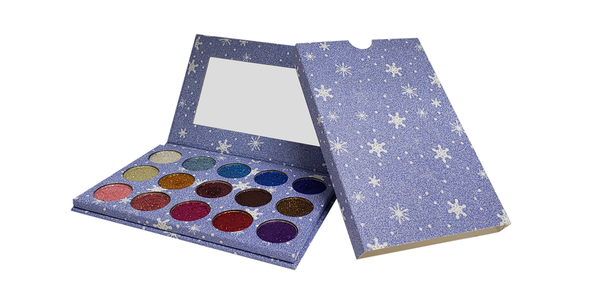 15 Color Sapphire Glitter Pressed Powder Palette