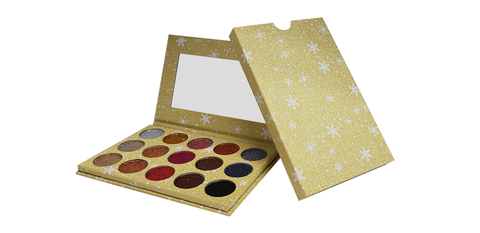 15 Color 24k Glitter Pressed Powder Palette