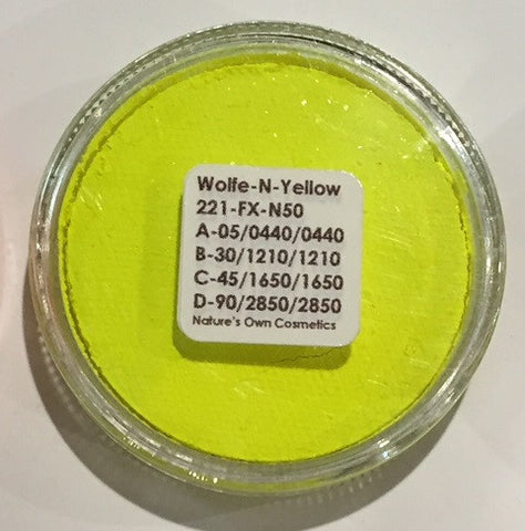 Wolfe Face Paint Neon Yellow