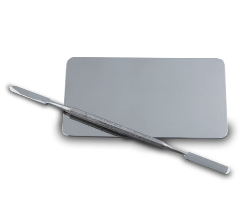 Metal Palette With Spatula