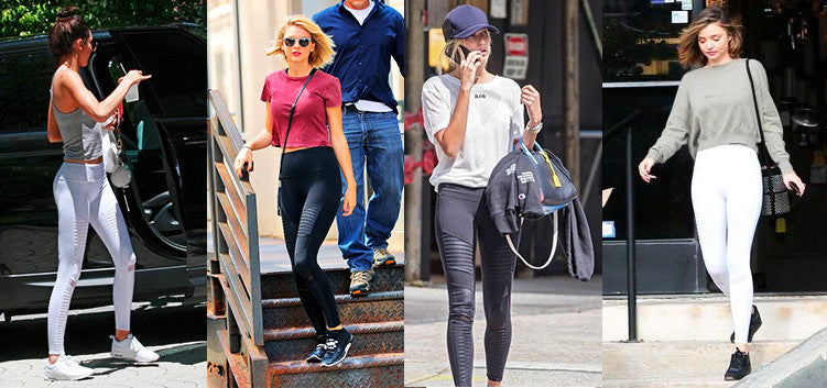 Alo Yoga Moto Leggings Kendall Jenner Taylor Swift Hailey Baldwin Miranda Kerr