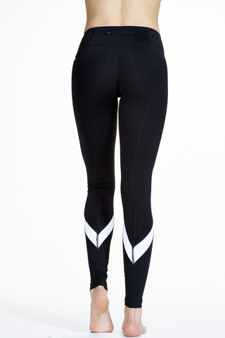 Vee Long Legging in Black and White - AMAIA - 1
