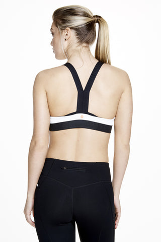 Vinyasa Racer Back Bra in White - AMAIA - 1