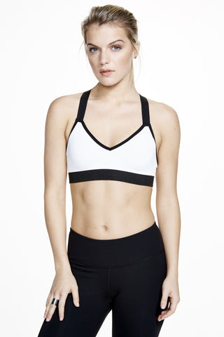 Vinyasa Racer Back Bra in White - AMAIA - 2