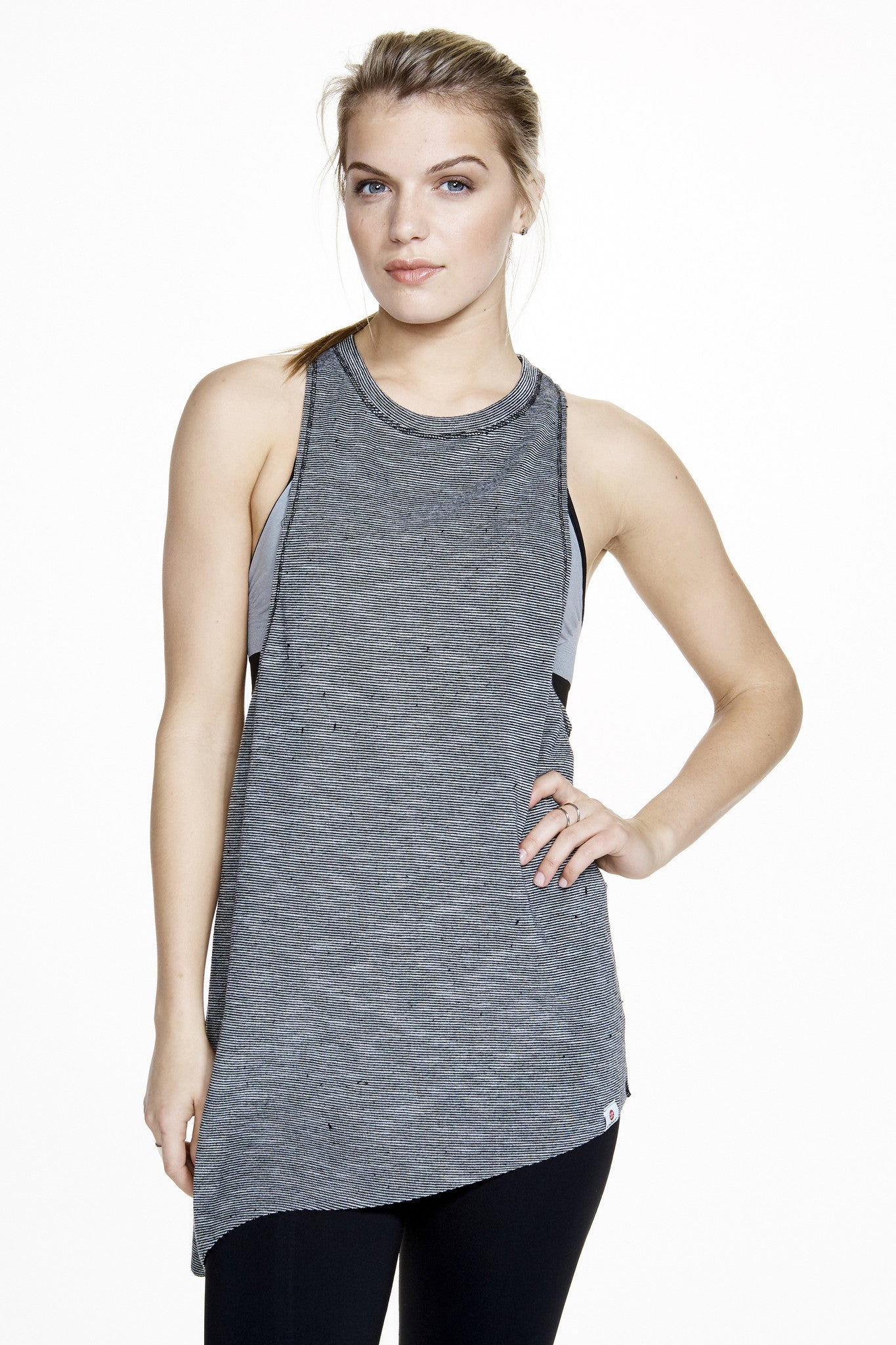 Meditation Tie Tank in Grey - AMAIA - 2