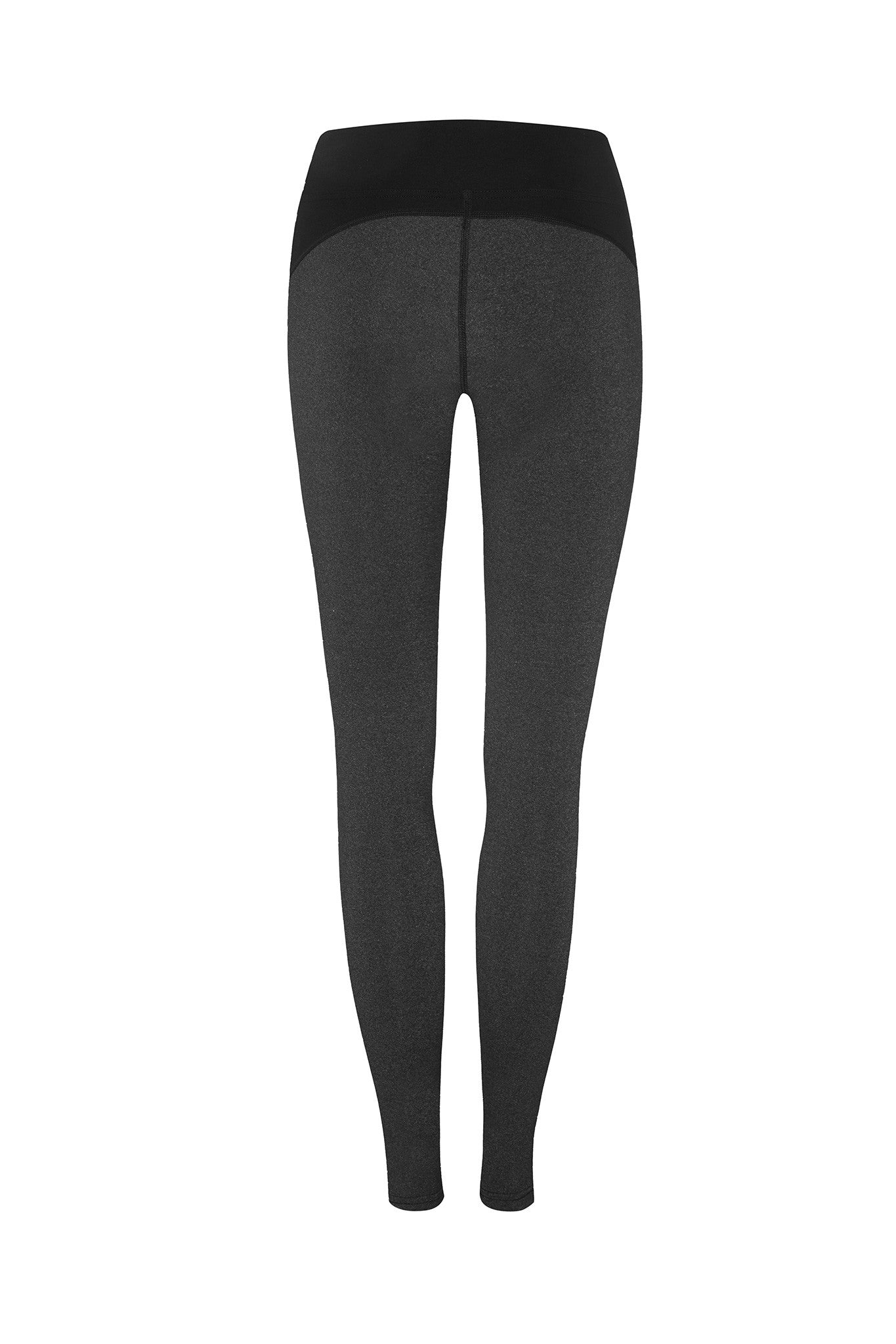 Front Mesh Panel Legging in Charcoal - AMAIA - 4