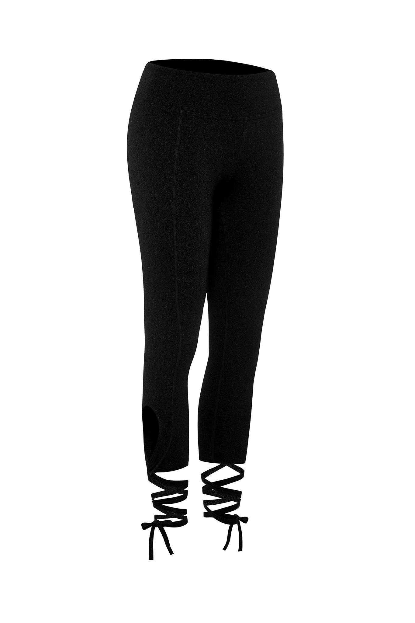 Ballet Tie Legging in Black