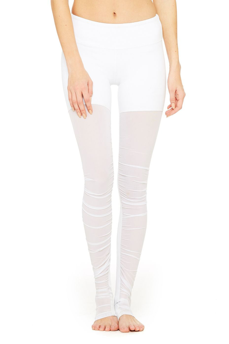 Mesh Goddess Legging in White