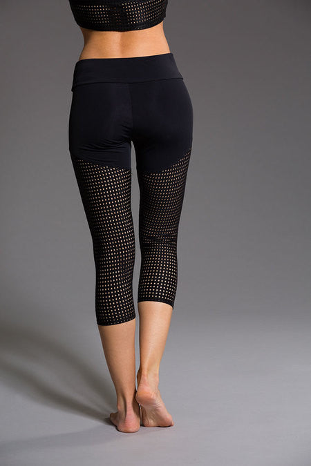 Capri Pant in Black Mesh