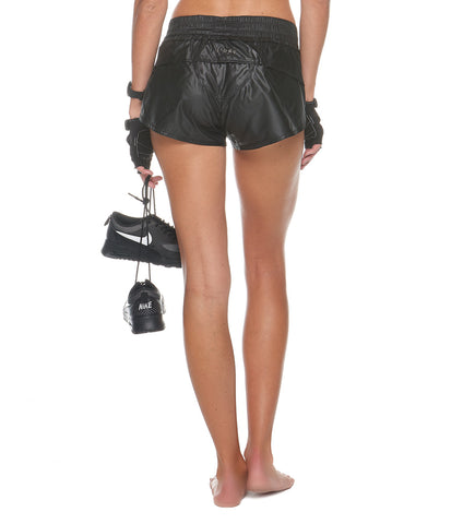 Lunar Eclipse Short in Black - AMAIA - 2